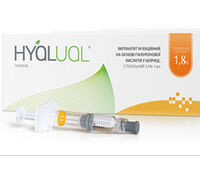Гиалуаль Hyalual® 1,8% - 2 мл (шприц с двумя иглами)