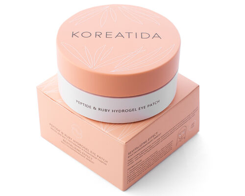 Koreatida peptide and ruby hydrogel eye patch